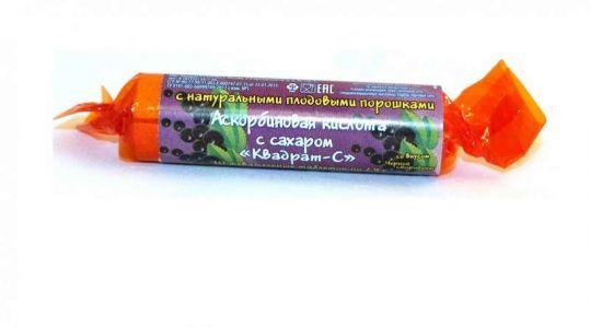 Аскорбиновая кислота с сахаром таблетки черная смородина 2,9г 10 шт., фото №1