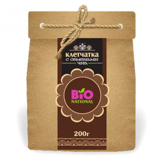 Бионейшнал ваше здоровье клетчатка с семенами чиа 200г эко-упаковка, фото №1