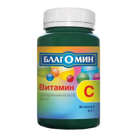 Благомин капсулы 0,4г витамин с (300мг) 90 шт., фото №1