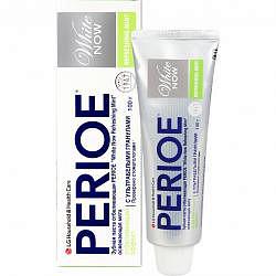 Перио вайт нау зубная паста отбеливающая освежающая мята 100г