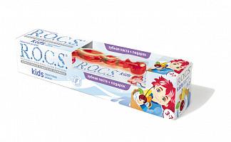 Рокс кидс набор зубная паста фруктовый рожок 45г+зубная щетка