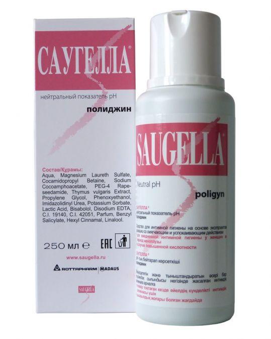 Саугелла полиджин мыло жидкое для интимной гигиены 250мл, фото №1