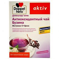 Доппельгерц актив антиоксидантный чай бузина/витамин с/цинк 10 шт. саше