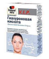 Доппельгерц вип гиалуроновая кислота капсулы биотин/q10/витамин с/цинк 30 шт.