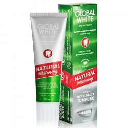 Глобал вайт зубная паста натуральное отбеливание 100мл
