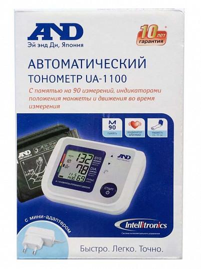 Анд тонометр автоматический ua-1100 с адаптером, фото №2