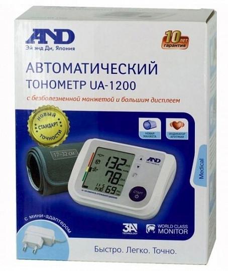 Анд тонометр автоматический ua-1200 ас с большым дисплеем и адаптером, фото №2