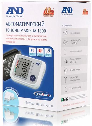 Анд тонометр автоматический ua-1300 ас с говорящим помощником, адаптером, фото №2