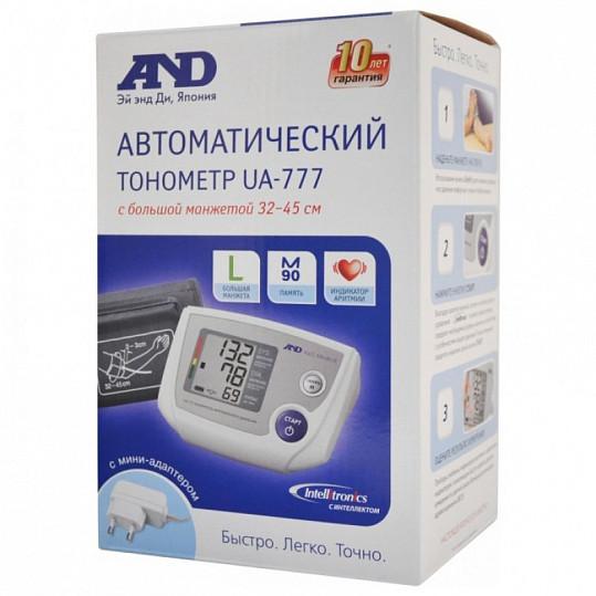 Анд тонометр автоматический ua-777 l с большой манжетой, адаптером, фото №2