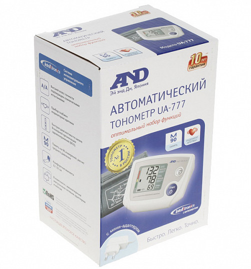 Анд тонометр автоматический ua-777 с адаптером, фото №2