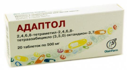Адаптол 500мг 20 шт. таблетки, фото №1