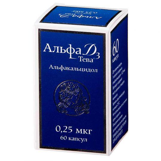 Альфа д3-тева 0,25мкг 60 шт. капсулы, фото №1