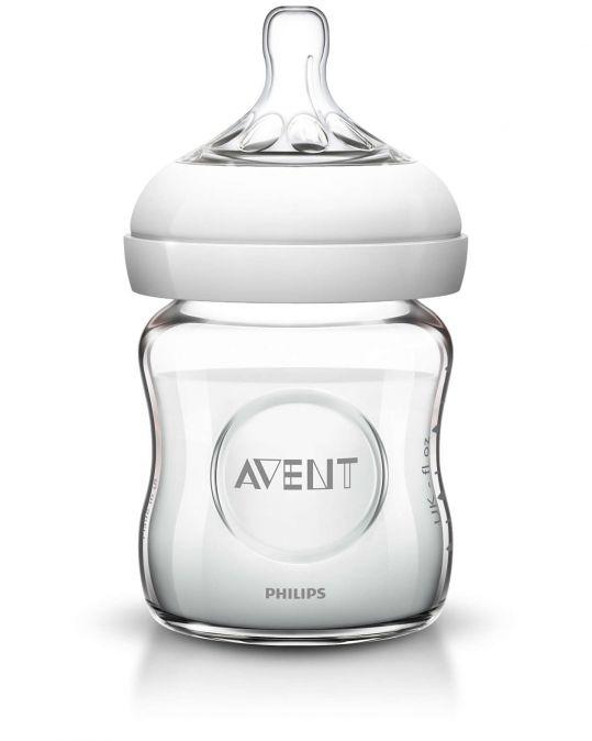 Авент натурель бутылочка для кормления с соской для новорожденных 81410 (scf671/17) стекло 120мл, фото №1