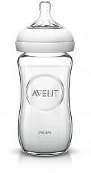 Авент натурель бутылочка для кормления с соской медленный поток 81420 (scf673/17) стекло 240мл