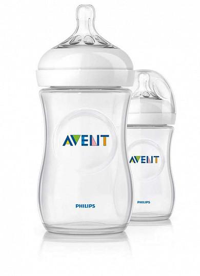 Авент натурель набор для новорожденных 2 бутылочки 125мл + 2 бутылочки 260мл + пустышка + щеточка для мытья бутылочек и сосок 86105 (scd290/01), фото №8