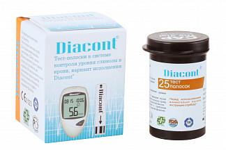 Диаконт тест-полоски n25 ок биотек