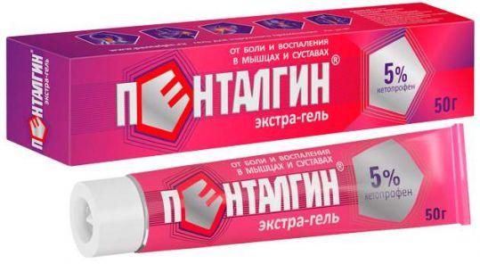 Пенталгин экстра-гель 5% 50г гель д/наружного применения, фото №1
