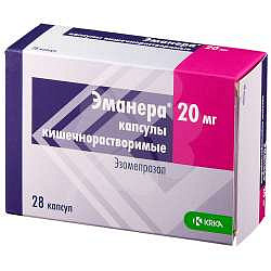 Эманера 20мг 28 шт. капсулы кишечнорастворимые