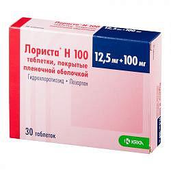 Лориста н100 30 шт. таблетки