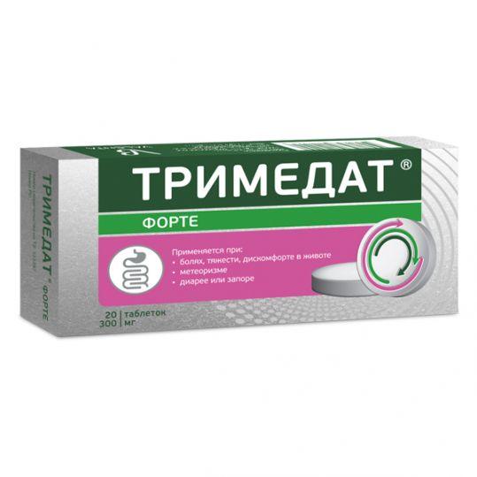 Тримедат форте 300мг 20 шт. таблетки с пролонгированным высвобождением покрытые пленочной оболочкой, фото №1