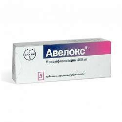 Авелокс 400мг 5 шт. таблетки покрытые пленочной оболочкой