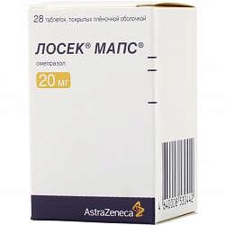 Лосек мапс 20мг 28 шт. таблетки покрытые пленочной оболочкой