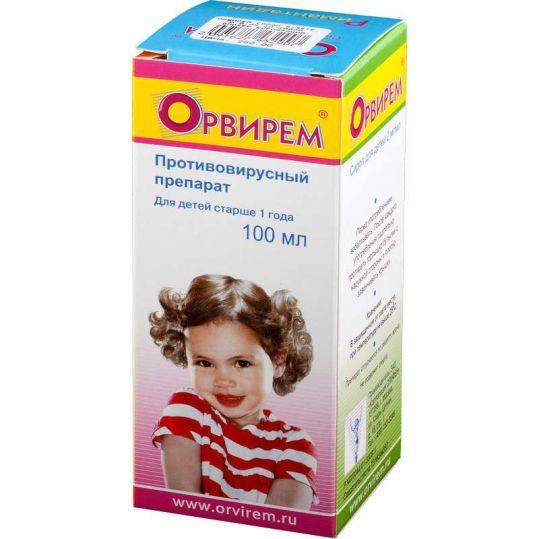Орвирем 0,2% 100мл сироп для детей, фото №1