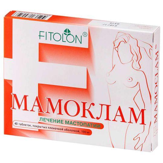Мамоклам 100мг 40 шт. таблетки покрытые пленочной оболочкой, фото №1