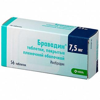 Бравадин 7,5мг 56 шт. таблетки покрытые пленочной оболочкой