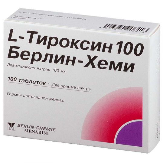 L-тироксин 100 берлин-хеми 100 шт. таблетки, фото №1