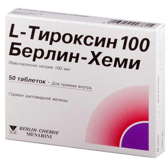 L-тироксин 100 берлин-хеми 50 шт. таблетки, фото №1