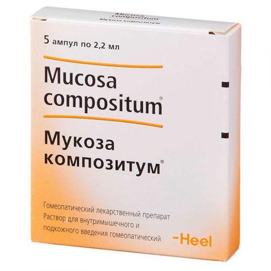 Мукоза композитум 2,2мл 5 шт. раствор biologische heilmittel heel gmbh, фото №1
