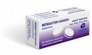 Мемантин канон 5,10,15,20мг n7х4 таблетки покрытые пленочной оболочкой