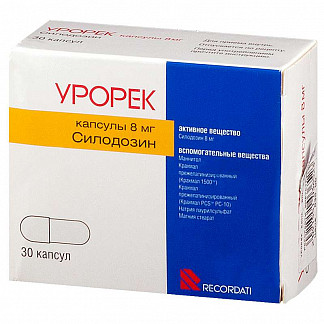 Урорек 8мг 30 шт. капсулы recordati industria chimica & farmaceuti