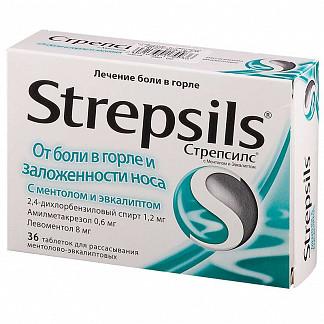 Стрепсилс 36 шт. таблетки для рассасывания ментол-эвкалипт