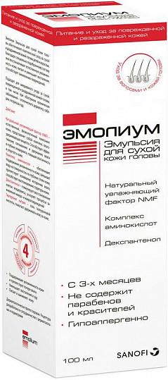 Эмолиум эмульсия для сухой кожи головы 100мл, фото №2