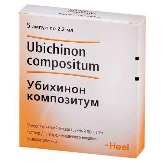 Убихинон композитум 2,2мл 5 шт. раствор для инъекций biologische heilmittel heel gmbh, фото №1