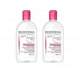 Биодерма сенсибио вода очищающая для чувствительной кожи 500мл 2 шт.