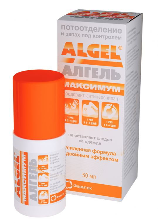 Алгель максимум дезодорант-антиперспирант 50мл, фото №1