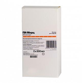Пк-мерц 200мг/500мл 500мл 2 шт. раствор для инфузий merz pharma gmbh & co. kgaa