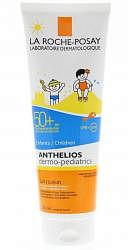Ля рош позе антгелиос дермо-педиатрикс гель солнцезащитный детский на влажную кожу ветскин spf50+ 250мл