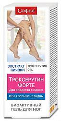 Софья троксерутин форте гель для ног 75мл