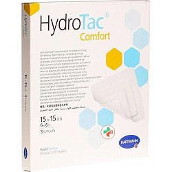 Хартманн гидротак комфорт повязка самоклеящаяся губчатая 15х15см 3 шт.