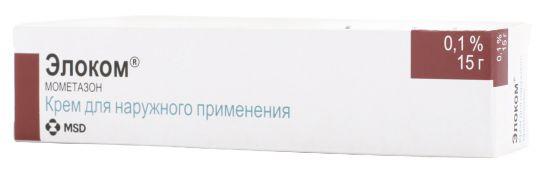 Элоком 0,1% 15г крем для наружного применения, фото №1