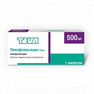 Левофлоксацин-тева 500мг 7 шт. таблетки покрытые пленочной оболочкой