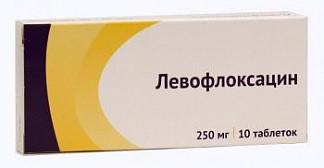 Левофлоксацин 250мг 10 шт. таблетки покрытые пленочной оболочкой