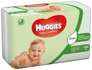 Хаггис ультра комфорт салфетки влажные алоэ 128 шт.