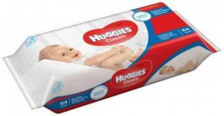Хаггис классик салфетки влажные детские многослойные 64 шт.