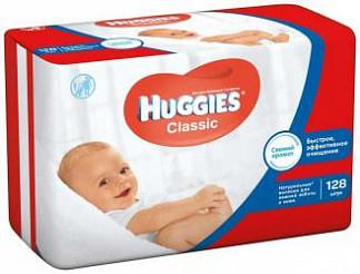 Хаггис классик салфетки влажные детские многослойные 128 шт.