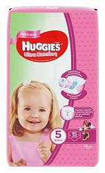 Хаггис ультра комфорт подгузники для девочек 5 (12-22кг) 15 шт.
